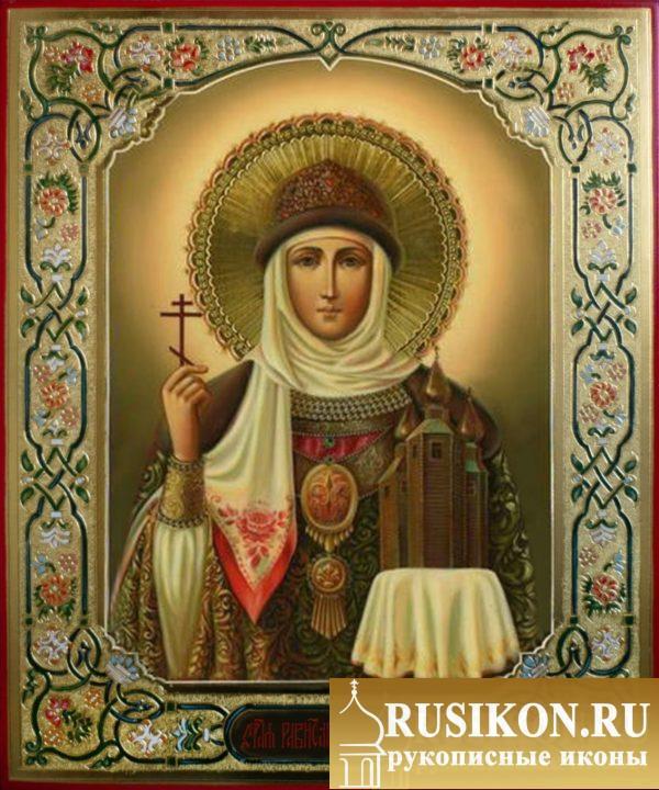 рукописная икона Святой княгини Ольги