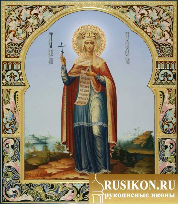 рукописная икона Святой царицы Елены Равноапостольной