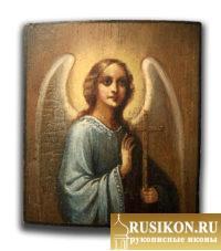 Старинная икона Святого Ангела Хранителя