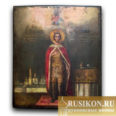Старинная икона Святого Александра Невского