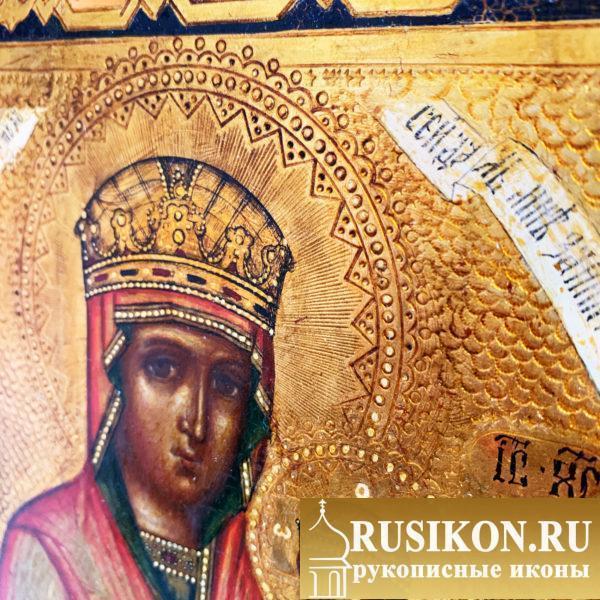 Старинная икона Богородицы Споручница грешных