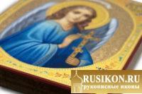 Икона Ангела Хранителя в технике чеканка по золоту