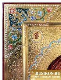 Казанская икона Богородицы в технике чеканка по золоту